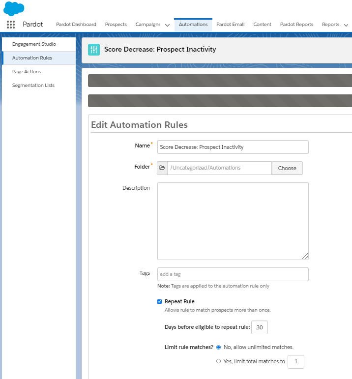 Screenshot Scroing System Automation Rule